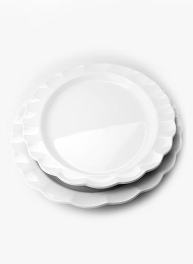 Kanca Ev Fırfırlı Oval K.Tabak Kırılmaz Melamin  51X36Cm  Renkli